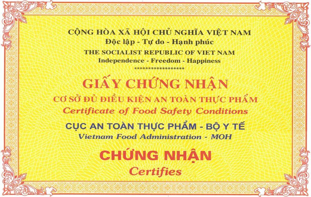 Giấy phép vệ sinh an toàn thực phẩm cơ sở sản xuất chế biến thịt, kinh doanh thịt tại Bình Dương, Đồng Nai